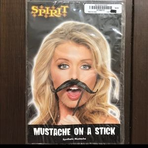 Costume mustache on a stick